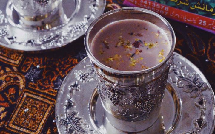 kashmiri chai landscape